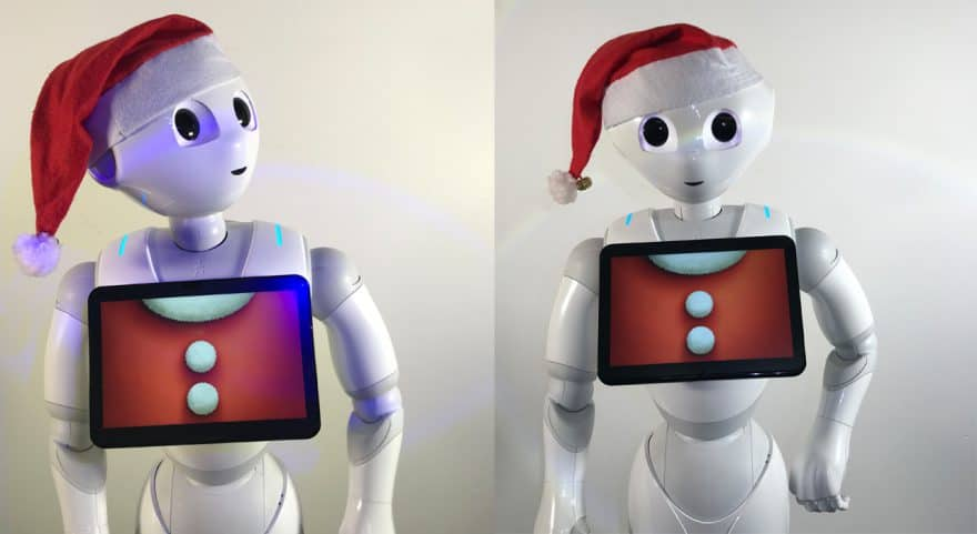 Pepper als digitaler Weihnachtsmann